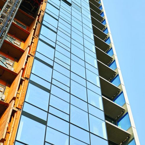 Balconies on Stantec Tower are Helping Residents Keep Warm in Edmonton's ICE District